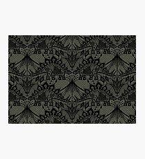 Stegosaurus Lace - Black / Grey Photographic Print