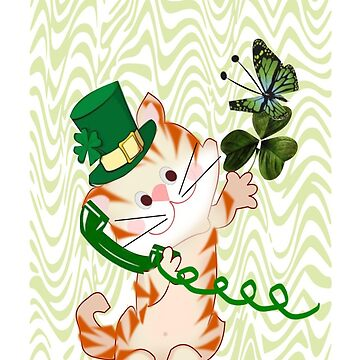Kitty on St.Patrick's day (1887 Views) by aldona