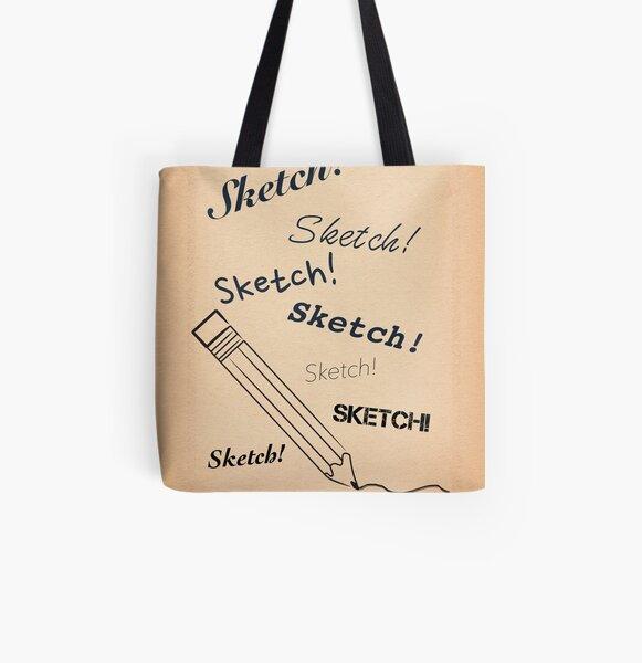 Sketch! Sketch! Sketch! All Over Print Tote Bag