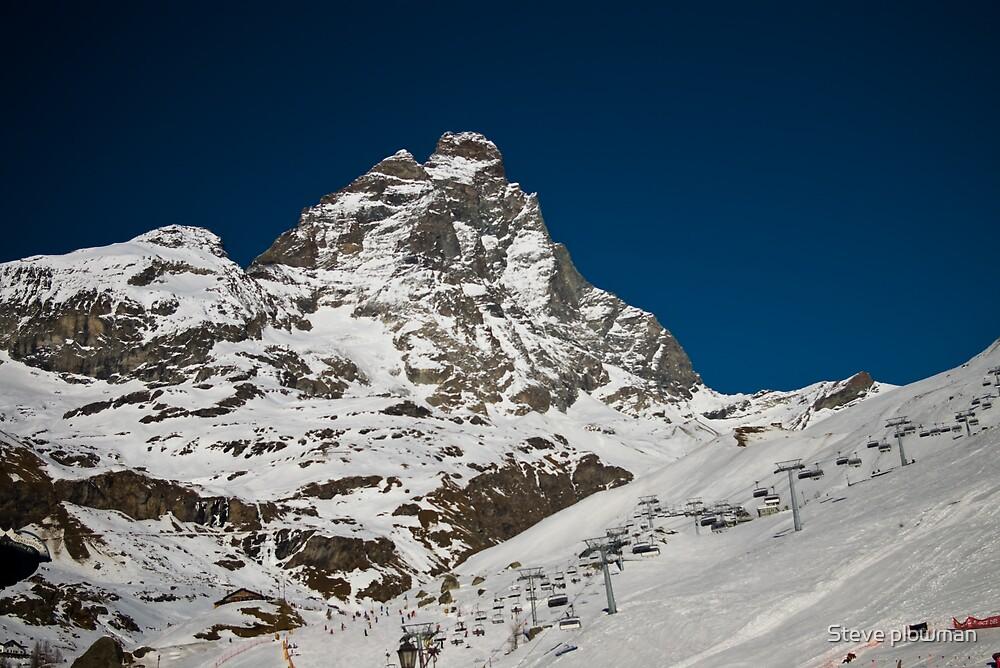 Matterhorn and ski area by Steve plowman