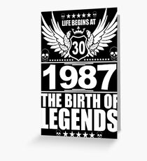 The Birth Of Legends 1987 Greeting Card