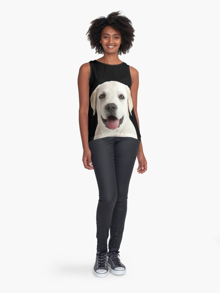 Vista alternativa de Blusa sin mangas Cachorro Labrador