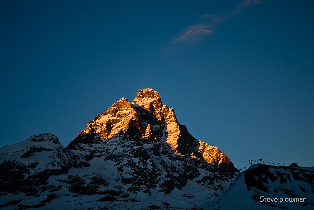 Sun setting on The Matterhorn by Steve plowman