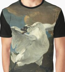 Jan Asselyn - The Threatened Swan Graphic T-Shirt
