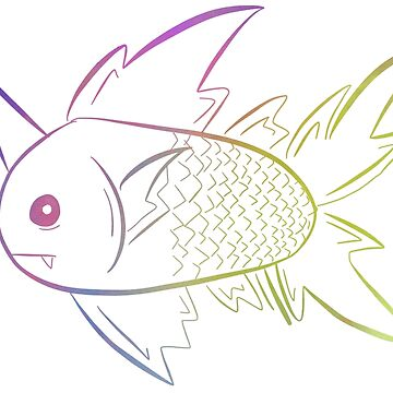 Majestic neon fish by hogfish