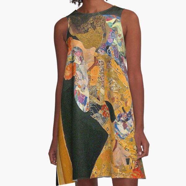 Using Klimt: The Kiss A-Line Dress