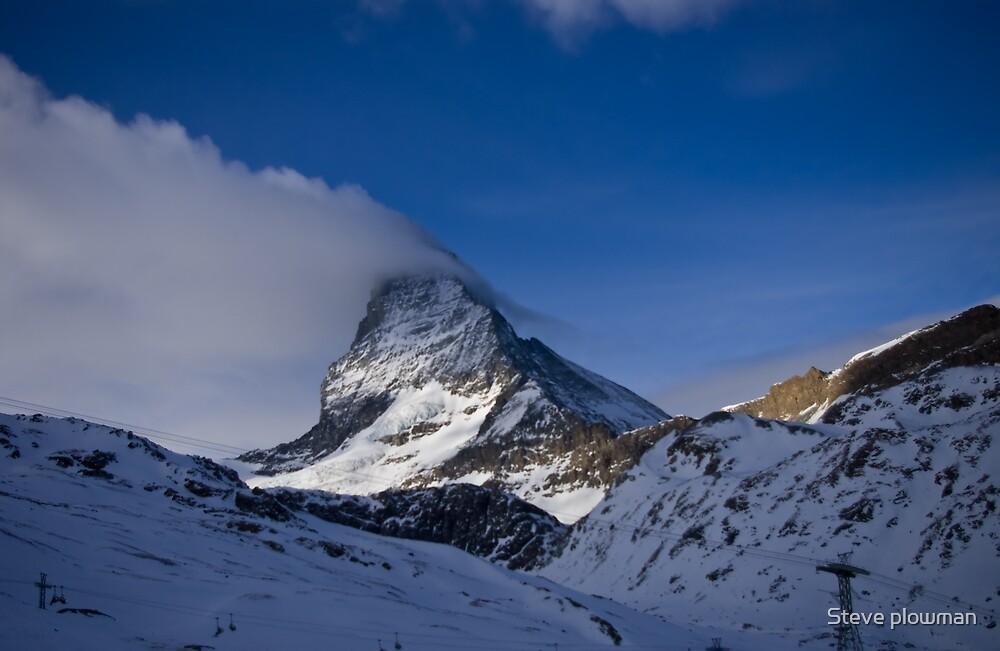 Clouds on the Matterhorn. by Steve plowman