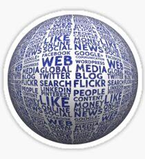 Ball social media board structure networks presentation logo social media  Sticker