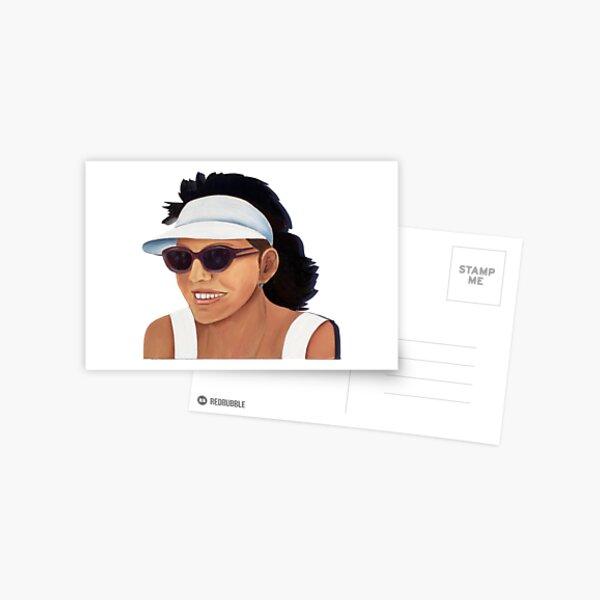 Timber Cut Out Girl Postcard