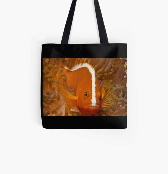 Orange Anemonefish, North Sulawesi, Indonesia All Over Print Tote Bag