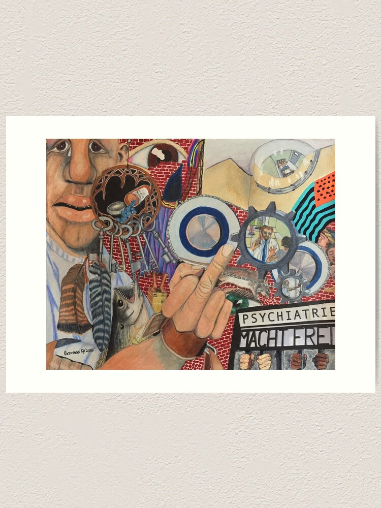 Alternate view of Fork You, Psychiatry! Art Print