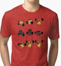 Camiseta de tejido mixto PUGS DE LEVANTAMIENTO OLÍMPICOS