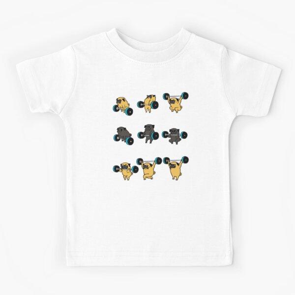 PUGS DE LEVANTAMIENTO OLÍMPICOS Camiseta para niños