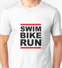 Triathlon - SWIM BIKE RUN -Run DMC Style T-Shirt