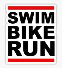 Triathlon - SWIM BIKE RUN -Run DMC Style Sticker