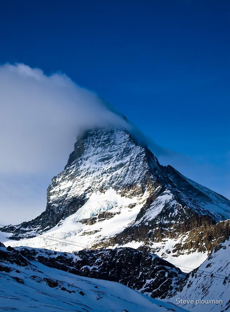 Clouds on The Matterhorn 2 by Steve plowman