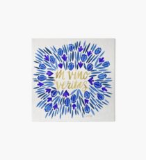 In Wine, There is Truth – Navy & Gold Art Board