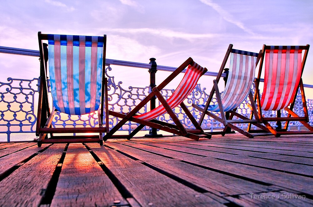 Deckchairs by Terence J Sullivan