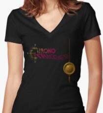 Chrono Trigger (Snes) Title Screen Women's Fitted V-Neck T-Shirt