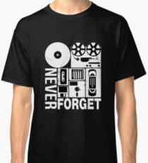 Never Forget Cassette Tape Disk Floppy Classic T-Shirt