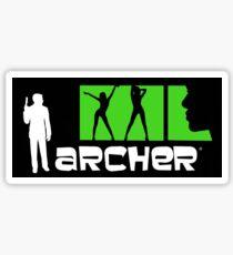 Archer with women credits Sticker