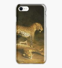 Jacques Laurent Agasse - Two Leopards Lying In The Exeter Exchange iPhone Case/Skin