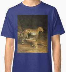 Jacques Laurent Agasse - Two Leopards Lying In The Exeter Exchange Classic T-Shirt