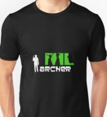 Archer with women in green on black background credits T-Shirt