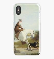 Jacques Laurent Agasse - Miss Cazenove On A Gray Hunter iPhone Case/Skin