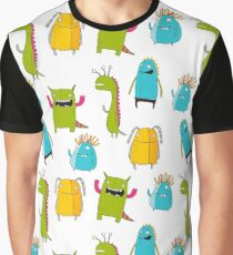 Cute Hand Drawn monster Graphic T-Shirt