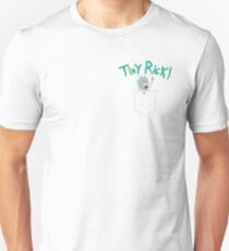 Tiny Rick Pocket Buddy Unisex T-Shirt