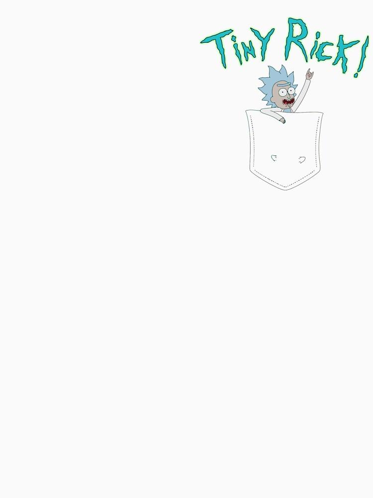 Tiny Rick Pocket Buddy | Unisex T-Shirt