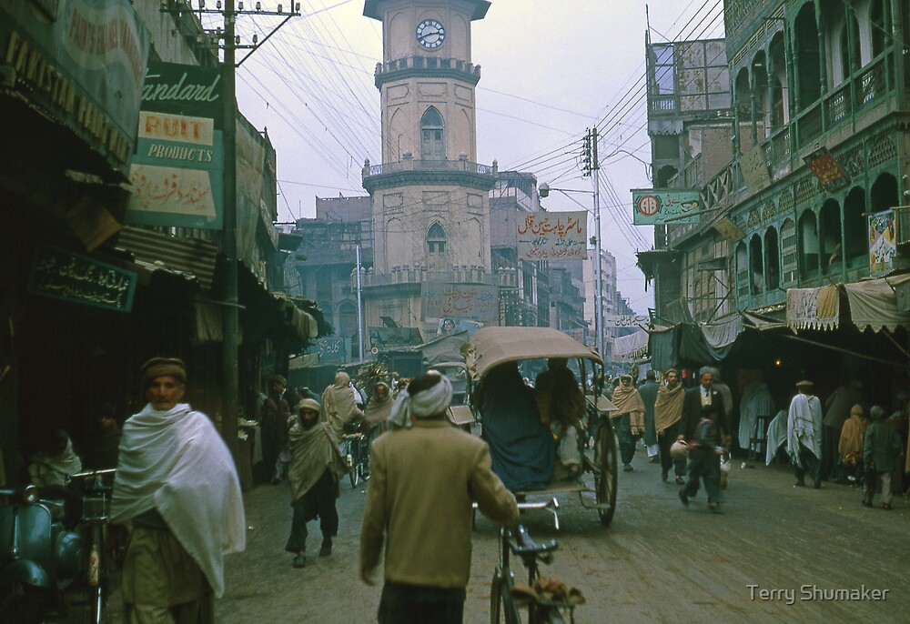 Peshawar Streets by Terry Shumaker