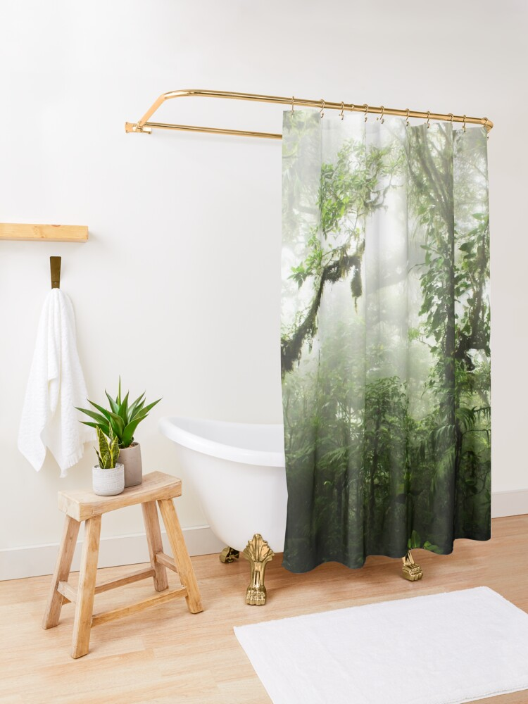 Alternate view of Cloud Forest Shower Curtain
