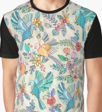 Whimsical Summer Flight Graphic T-Shirt
