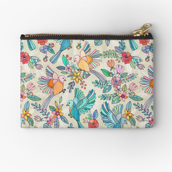 Whimsical Summer Flight Zipper Pouch