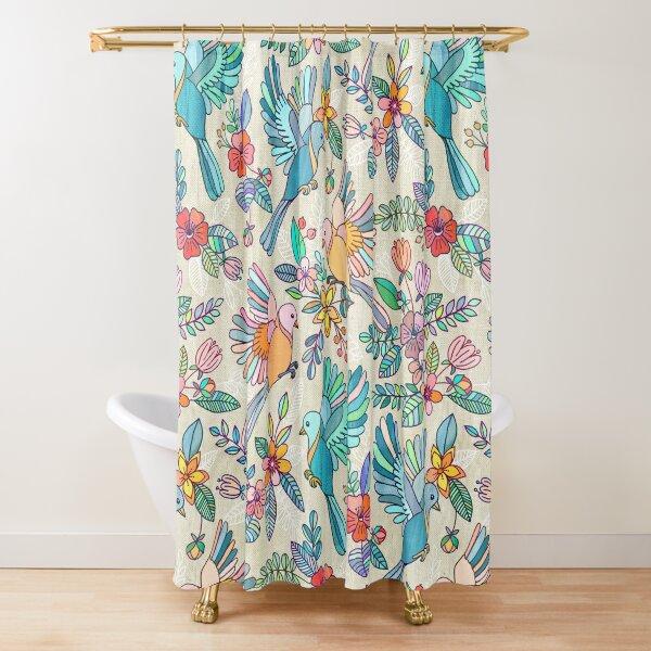 Whimsical Summer Flight Shower Curtain