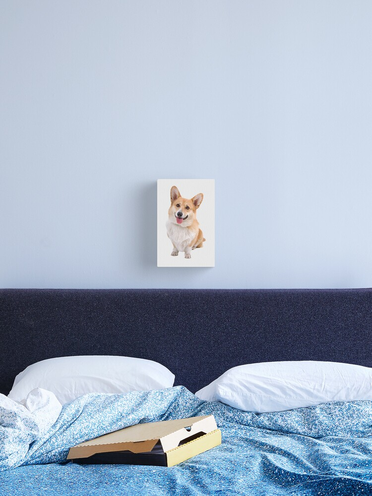 corgi print bed sheets