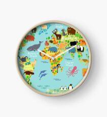 Reloj Mapa mundial de animales