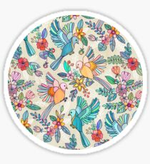 Whimsical Summer Flight Sticker