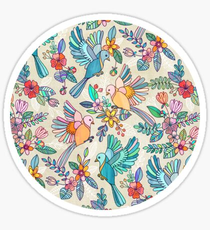 Whimsical Summer Flight Sticker