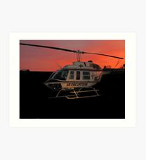 Air Evac Helicopter Art Print