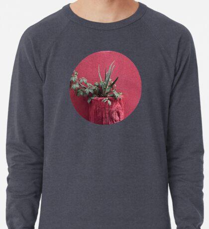 Rosa und Pflanze Leichter Pullover