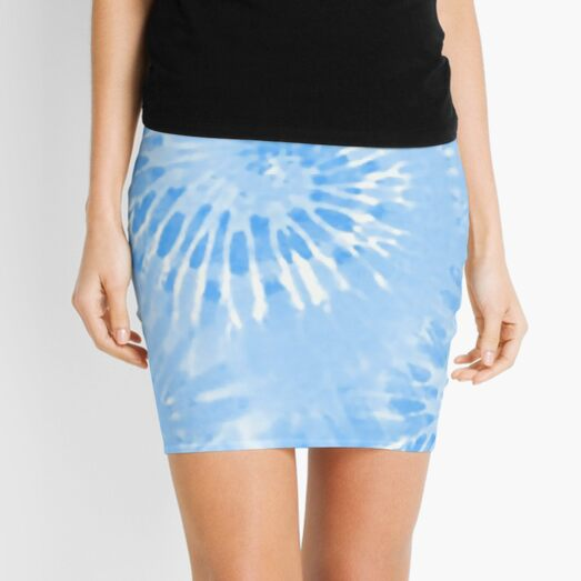Tie Dye Blue hippie Mini Skirt