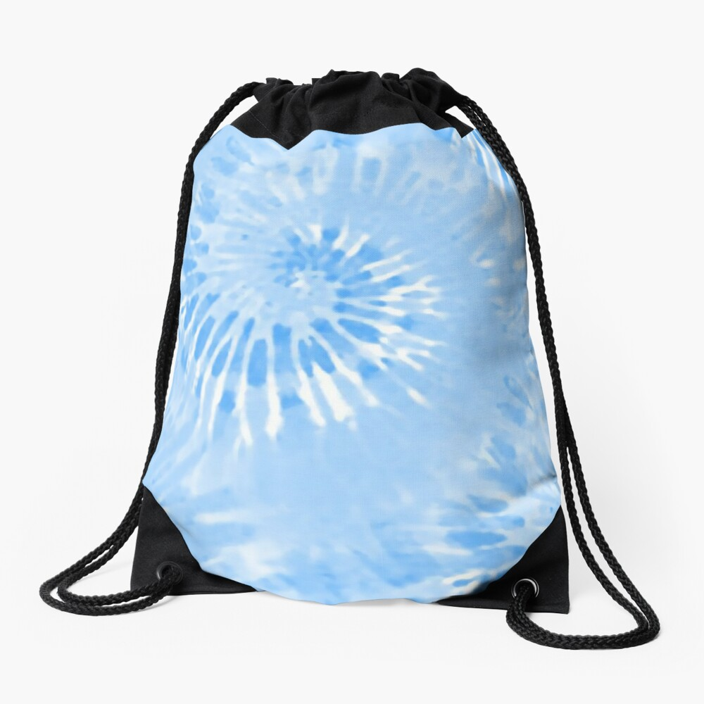 Tie Dye Blue hippy Drawstring Bag