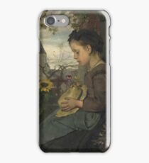 Jacob Maris - A Girl Seated Outside A House iPhone Case/Skin