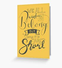 Some Of Us Are Short Greeting Card