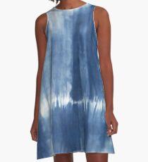 Tie Dye Blue hippy yoga pants A-Line Dress