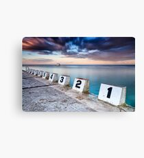 Merewether Ocean Baths - The Starting Blocks  Canvas Print