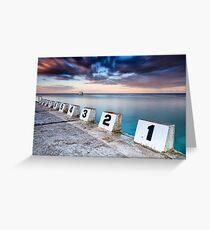 Merewether Ocean Baths - The Starting Blocks  Greeting Card